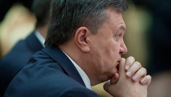 Ukrainian ex-president Viktor Yanukovych - Sputnik International