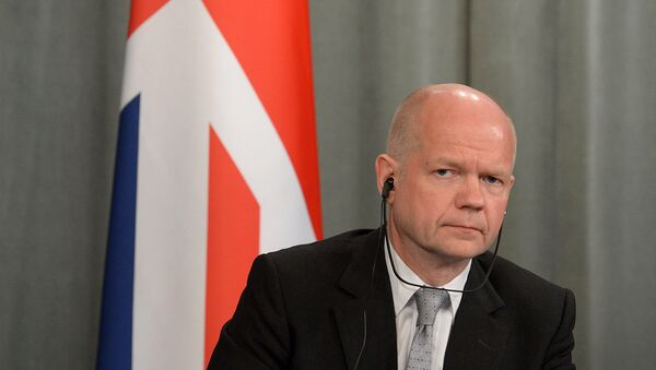 """William Hague, the Leader of the House of Commons, asserted that the """"absolutely unequivocal"""" cross-party agreement to extend the rights of Scotland is infrangible and does not depend on discussions concerning Scotland's possible vote on """"English laws"""". - Sputnik International"""