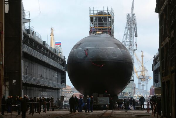Two Project 636.3 diesel-electric submarines, the 'Novorossiysk' (on photo) and the 'Rostov-on-Don,' will join the Black Sea Fleet this year. - Sputnik International