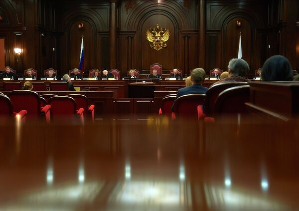 Russian Constitutional Court Justices during a session - Sputnik International