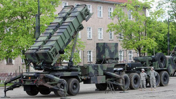 American Patriot air defense missiles deployed at the Morag military base in Poland. - Sputnik International