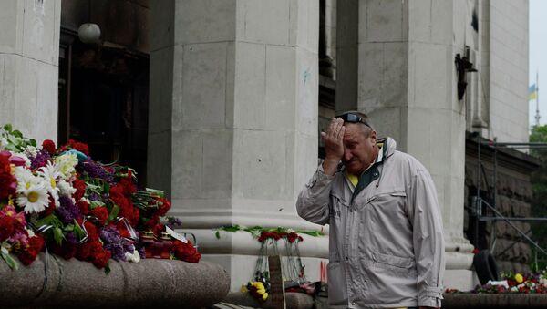 Odessa mourns Trade Unions House fire victims - Sputnik International