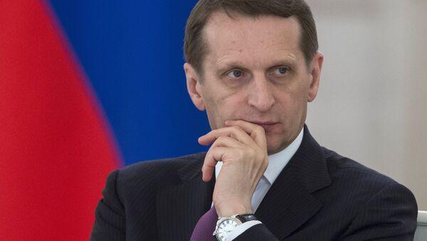 State Duma Speaker Sergei Naryshkin - Sputnik International