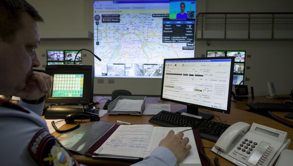 Control center of the Russian Interior Ministry's Moscow City police department - Sputnik International