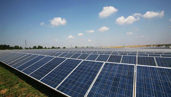 Solar power station in Crimea - Sputnik International