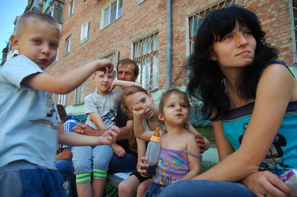Ukrainian refugees in Belgorod - Sputnik International