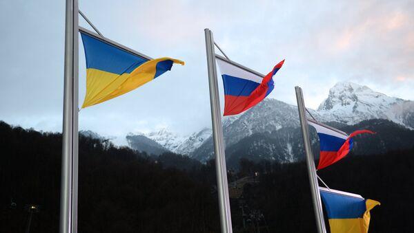 National Ukrainian and Russian flags - Sputnik International