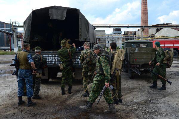 Soldiers of the Lugansk People's Volunteer Corps - Sputnik International