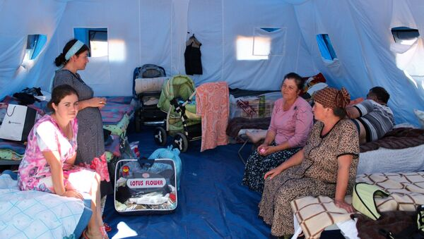 Tent camp in Sevastopol for refugees from Donbass - Sputnik International