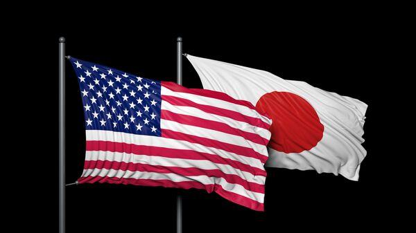 Flags of United States and Japan - Sputnik International