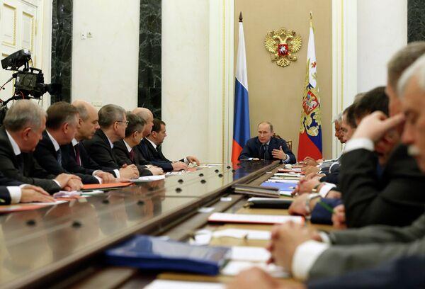 Vladimir Putin conducts Russian Security Council meeting - Sputnik International