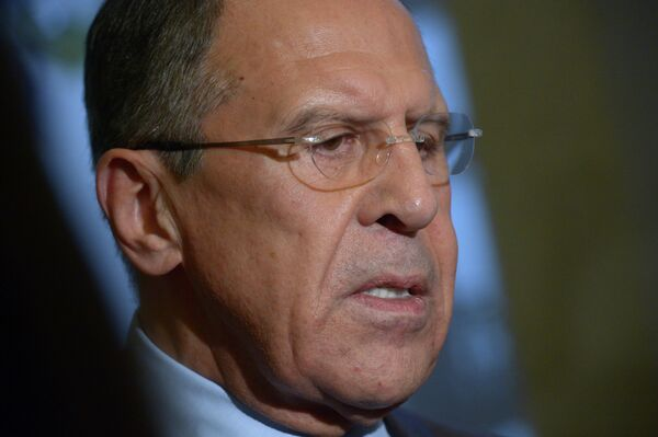Sergei Lavrov believes that negotiations between Israeli and Palestinian forces must lead to a long-term truce. - Sputnik International
