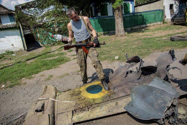 Military aircraft shot down in Donetsk - Sputnik International