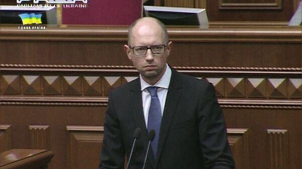 Ukrainian Prime Minister Arseniy Yatsenyuk - Sputnik International