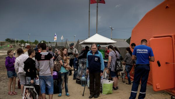 Ukrainian refugees in Russia's Rostov region - Sputnik International