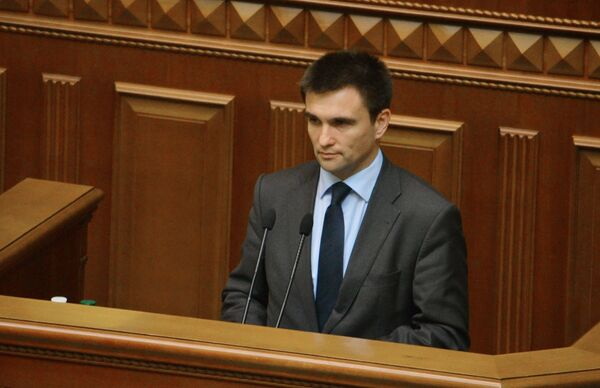 Ukrainian Foreign Minister Pavlo Klimkin says that local elections in Donetsk and Luhansk should be held on November 9 and that those elected should not be Russian citizens as was the case before. - Sputnik International