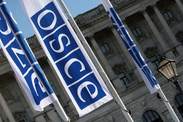 Флаги с логотипом ОБСЕ в Вене - Sputnik International