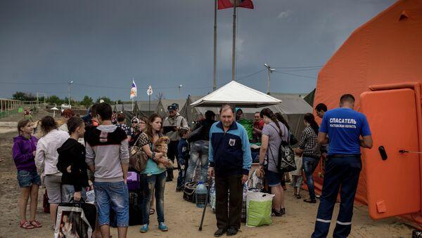 Ukrainian refugee camp in Russia's Rostov region - Sputnik International