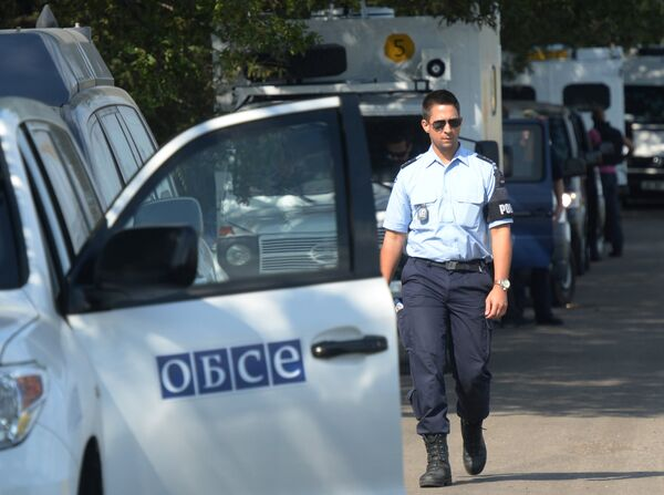 OSCE experts, working at Malaysia Airlines Boeing 777 crash site in the Donetsk area. - Sputnik International