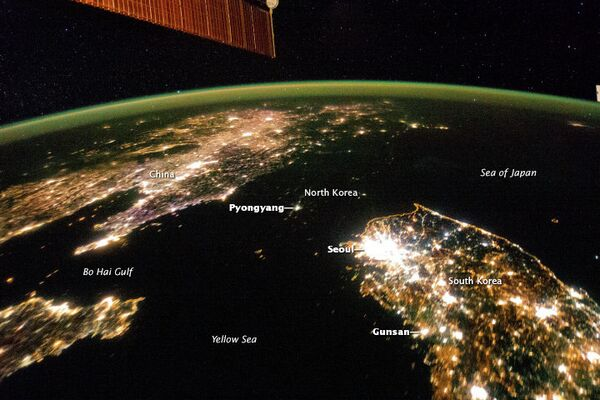 China, North, and South Korea seen from space - Sputnik International