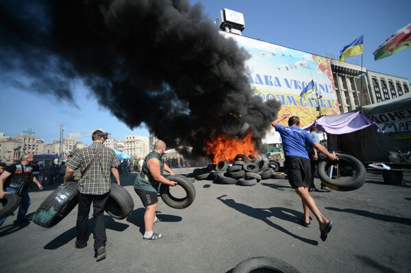 Clashes Between Activists and Police on Central Kiev's Maidan Square - Sputnik International