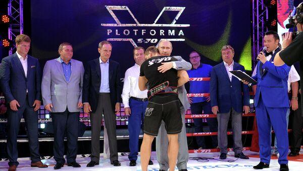 Vladimir Putin Attends Plotforma S-70 Combat Sambo Tournament in Sochi - Sputnik International