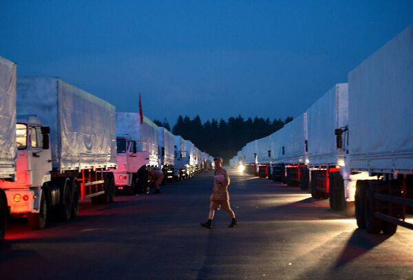 The arrival of a Russian humanitarian convoy at the Ukrainian border is expected on Wednesday. - Sputnik International