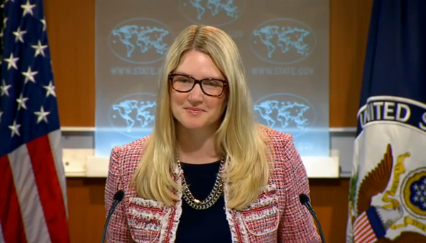 US State Department Spokesperson Marie Harf announces that the Washington and its EU partners have not made a decision on new round of sanctions against Russia yet. - Sputnik International