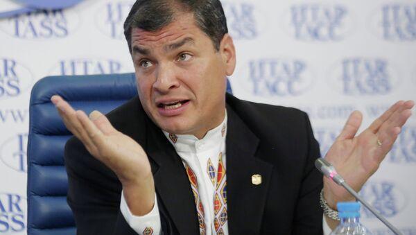 News conference by President of the Republic of Ecuador Rafael Correa - Sputnik International