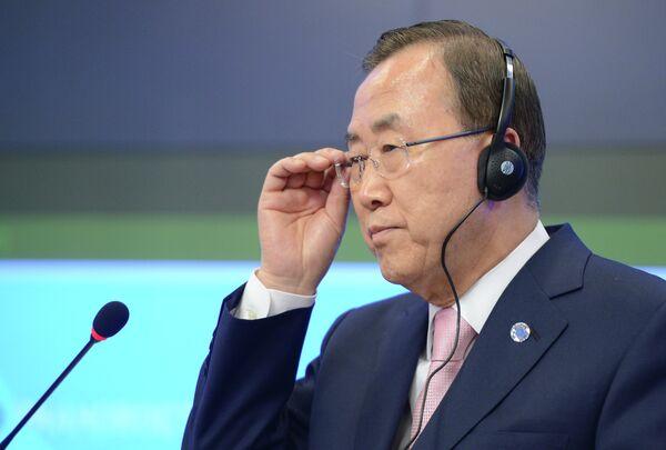 N Secretary-General Ban Ki-moon. - Sputnik International