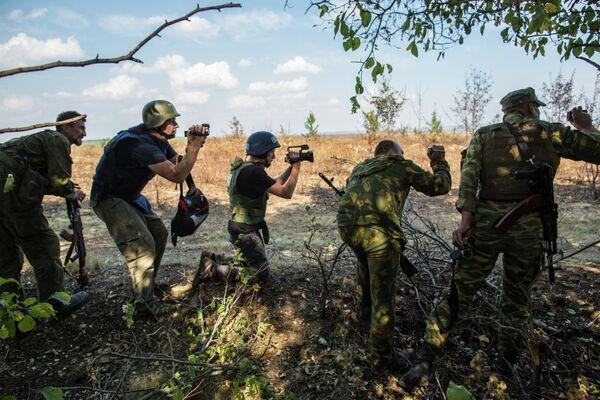 Journalists, working in Ukraine. - Sputnik International