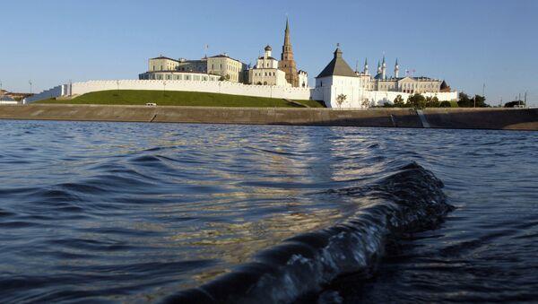 View of the Kazan kremlin from Volga River - Sputnik International