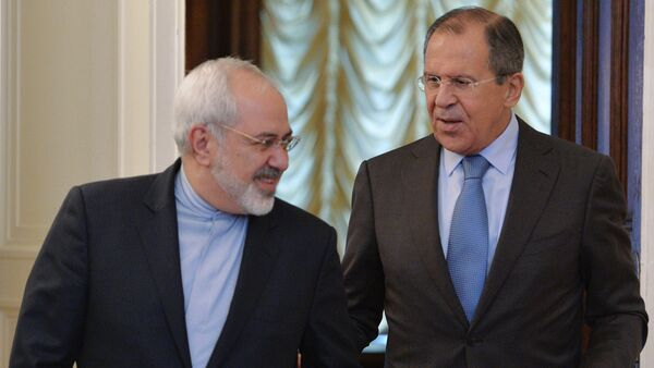 Russian Foreign Minister Sergei Lavrov (right) and Iranian Foreign Minister Mohammad Javad Zarif - Sputnik International