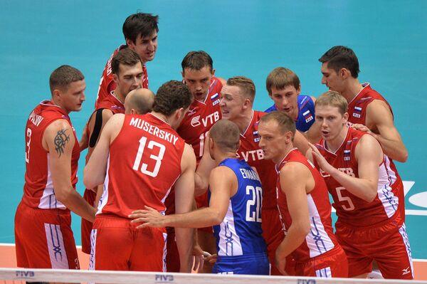 Russian team defeated Egypt in FIVB nen's volleyball championship - Sputnik International