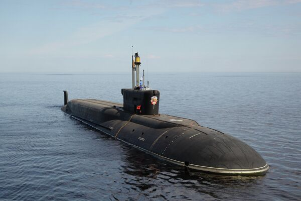 Russia's nuclear submarine Vladimir Monomakh has departed its port to hold a test launch of the intercontinental ballistic Bulava (SS-NX-32) missile in the North Sea. - Sputnik International