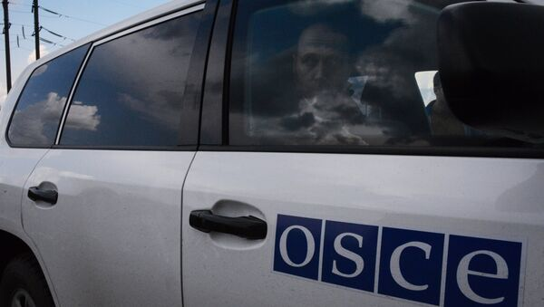 A team of observers from the OSCE, came under fire near the city of Donetsk - Sputnik International