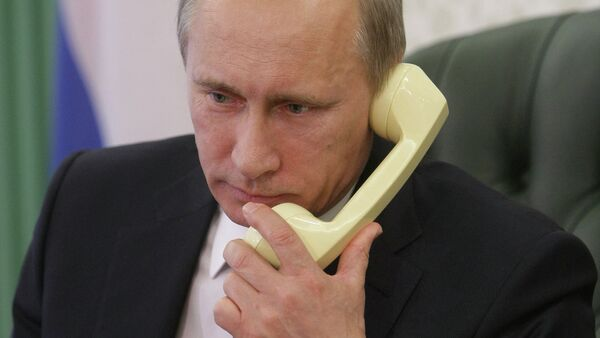Russian President Russian President Vladimir Putin and UN Secretary General Ban Ki-moon discussed in a phone conversation situation in Ukraine and commended the Minsk agreements on truce in southeastern Ukraine. - Sputnik International