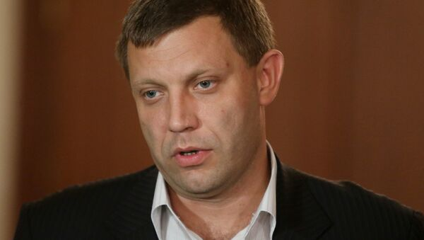 The newly elected head of Donetsk People's Republic (DPR) Alexander Zakharchenko accepted the resignation of the republic's Council of Ministers. - Sputnik International