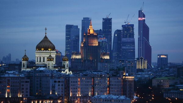 Christ the Savior Cathedral and the business-center Moscow-City in Moscow, Russia. - Sputnik International
