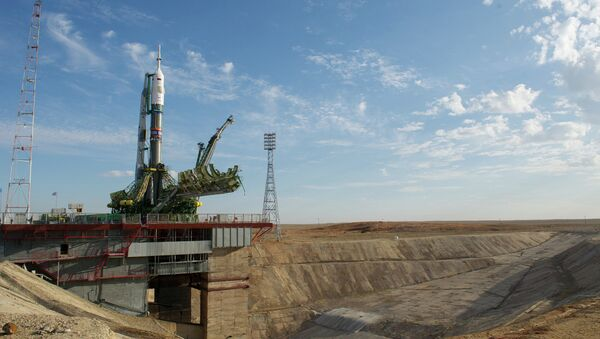 The Soyuz-FG orbital carrier rocket and Soyuz TMA-14M spacecraft have been delivered and installed at the Gagarin's Start launch site at the Baikonur Cosmodrome in Kazakhstan for a launch is planned for September 26 - Sputnik International