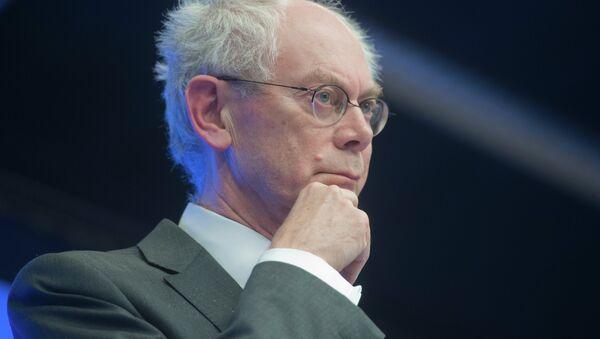 Herman Van Rompuy, president of the European Council, confirmed Friday he will finish his political career on December 1. - Sputnik International