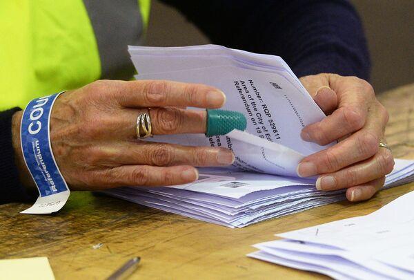 Counting of votes during the referendum on Scottish independence. - Sputnik International