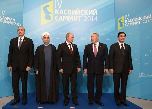 Russian President Vladimir Putin participates in the 4th Caspian summit, held in Astrakhan, southern Russia on September 29, 2014. - Sputnik International