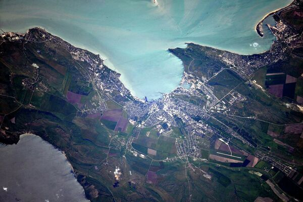 Kerch Strait, Crimea, view from space. - Sputnik International