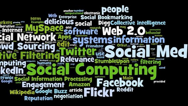 Another tag cloud from the wordle site around social computing, social media, social networks etc. - Sputnik International