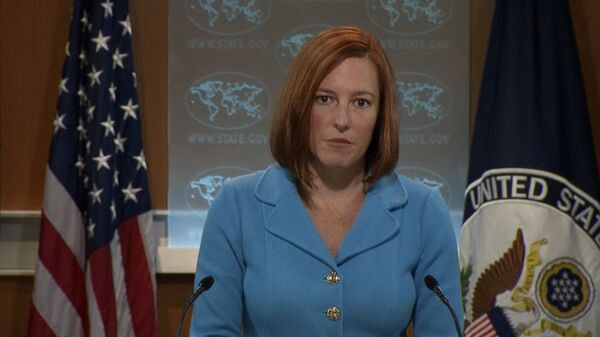 US Department of State Spokeswoman Jen Psaki says that the United States is involved in the ongoing discussion about the Ukrainian gas needs, and wants to see the issue resolved. - Sputnik International