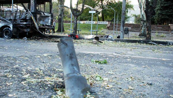 Aftermath of an artillery attack on Donetsk, eastern Ukraine. - Sputnik International