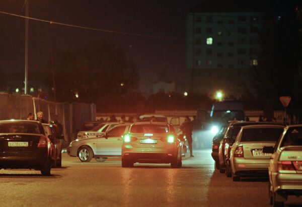Security cordon around the area of the suicide bombing in the center of Grozny. - Sputnik International
