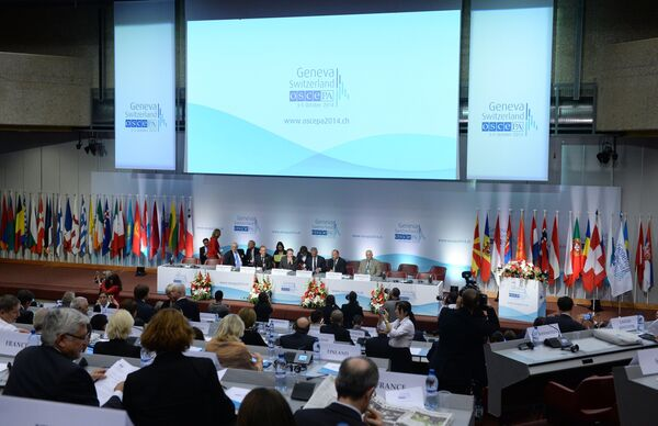 The annual OSCE Human Dimension Implementation Meeting was held in Warsaw from September 22 to October 3. - Sputnik International