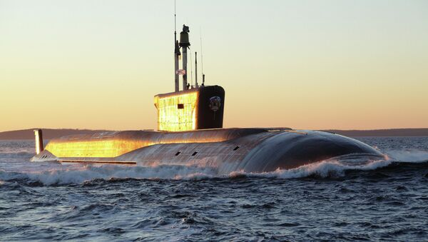 The Vladimir Monomakh submarine was officially inducted in the Russian Navy on Friday - Sputnik International